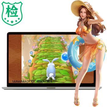 精品html5仿《神庙逃亡》3D跑酷游戏《奔跑的兔子》游戏源码_在线玩