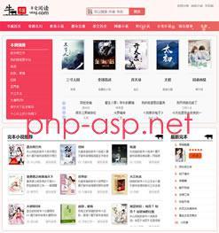 新粉色烂漫Thinkphp响应式自动采集小说站源码+WAP手机版